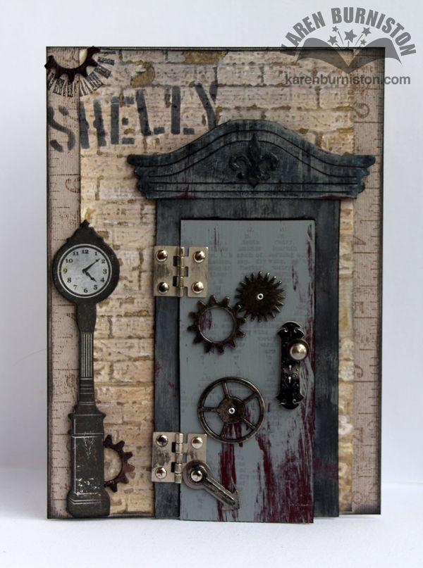 I Am Not Left Handed Steampunk Door Birthday Card