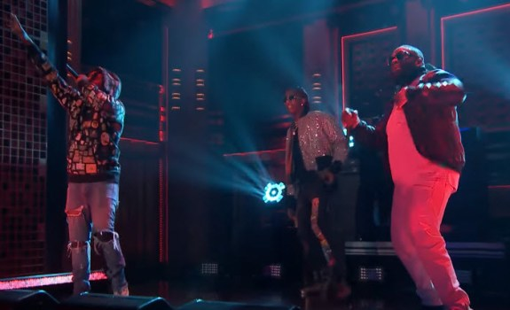 Rick Ross Young Thug Wale Trap Trap Trap The Tonight Show with Jimmy Fallon