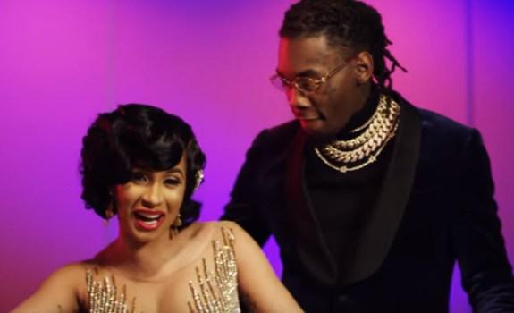 Cardi B Offset Lick Music Video