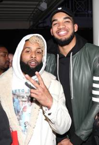 Odell Beckham Jr. and Karl-Anthony Towns at TIDAL X: Rolling Stone Live
