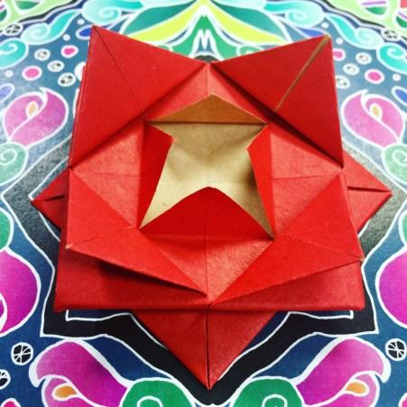 Origami Rose on Kaleidoscope