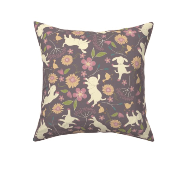 cushion with a pretty Springtime pattern design
