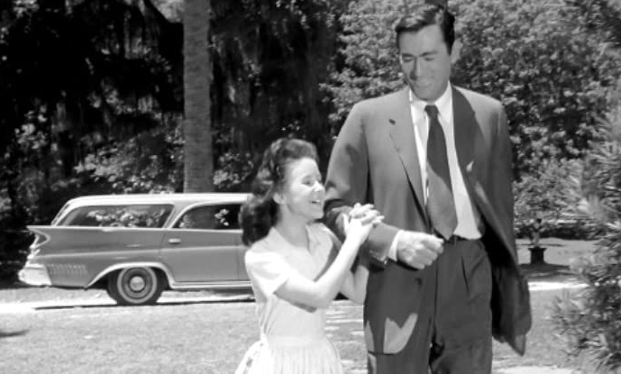 Lorrie Martin and Gregory Peck, Cape fear 1962