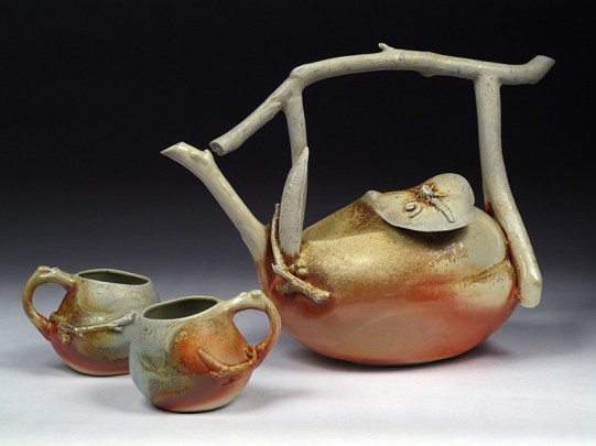 Woodfired Branch and Gourd Teaset 1