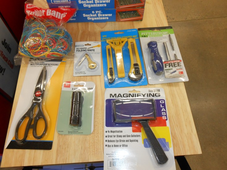Items that cost $1.99 or less at Harbor Freight that will allow you to use the coupon for a free item!
