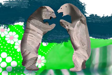 Plastic Bears - Arc Poetry Magazine - Illustration by Karen Hibbard