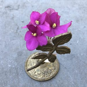 African Violet, Why I Wrote a Novel About a Flower That Makes You Forget: Part 1, Karen Hugg, https://karenhugg.com/2018/07/21/novel-about-a-flower #writing #novel #novelaboutaflower #flowers #gardening #plants #books
