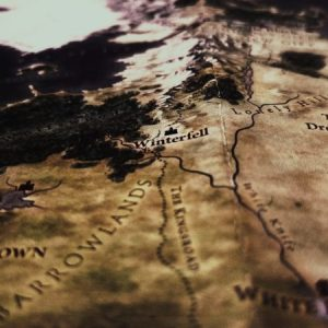 Game of Thrones map, Bran Was a Bore on Game of Thrones, But He Didn't Have to Be, Karen Hugg, https://karenhugg.com/2019/05/22/bran/ #GameofThrones #GeorgeRRMartin #Seasonfinale #BrandonStark #Bran #Winterfell #characterization #character #DalaiLama