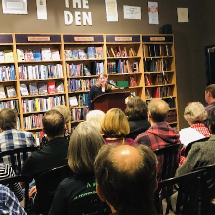 Karen Hugg Book Reading, The Strange Sensation of Being a Book Star for an Hour, Karen Hugg, https://karenhugg.com/2019/07/14/book-reading/ #KarenHugg #book #reading #TheForgettingFlower #Paris #fiction #literary #thrillers #Seattle #ThirdPlaceBooks