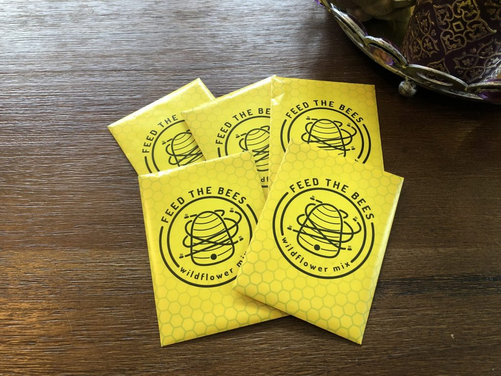 Wildflower seeds packets, How to Get More Free Wildflower Seeds, Karen Hugg, https://karenhugg.com/2020/05/02/wildflower-seeds #free #wildflowerseeds #bees #flowers #seedpackets #books #gardening #annuals