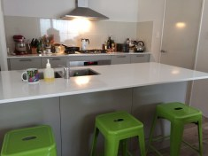 The lovely modern kitchen.
