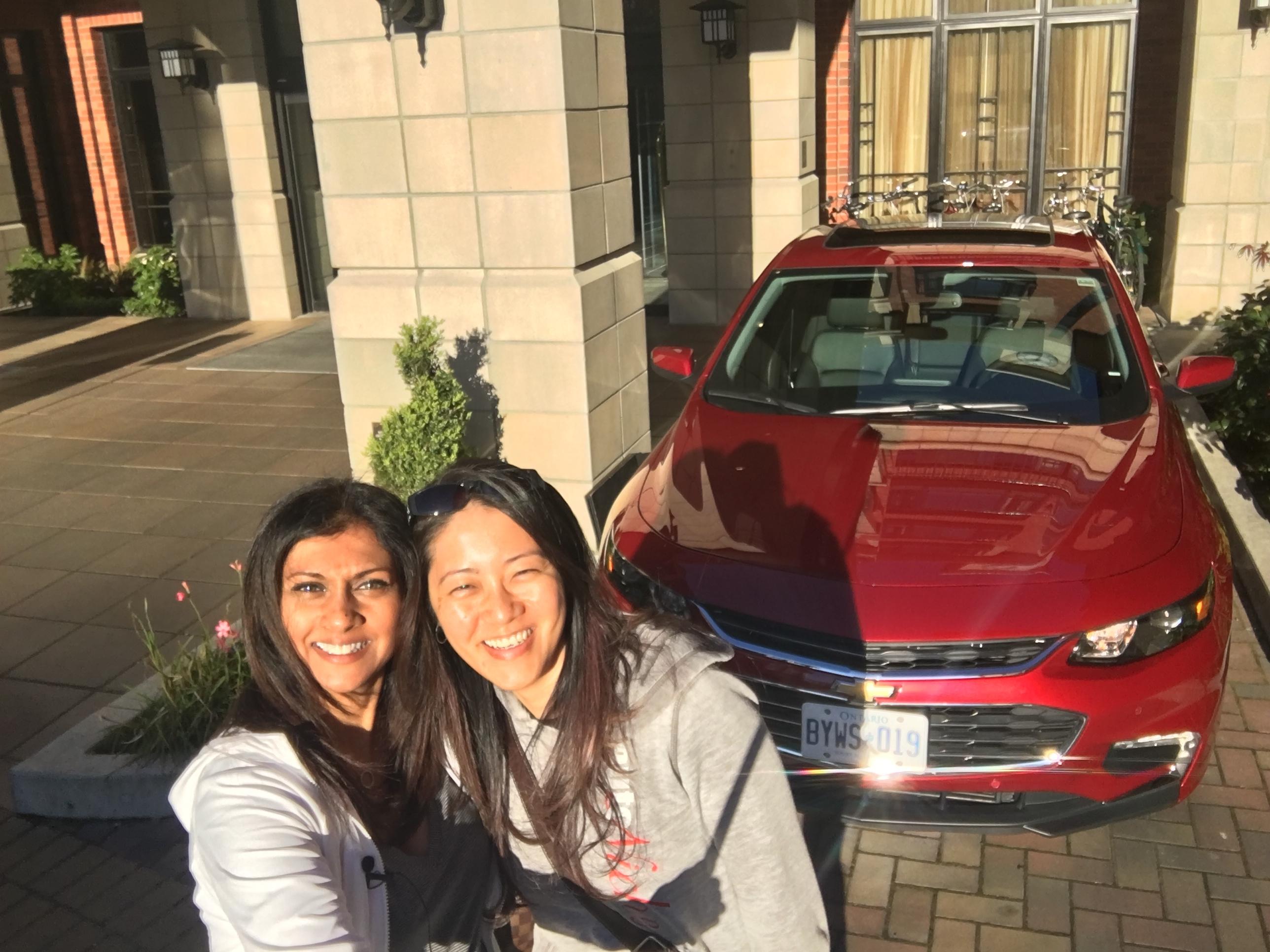 Journalists: Karen Johnson @karenjohnsontv and Emily Chung of @autonicheInc enjoying our ride