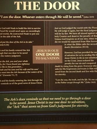 The door represents salvation