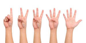 5 seperate hands counting from one to five Karen Lewis Clinical Social Worker Teaneck New Jersey