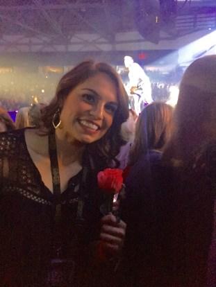 Katie caught a rose from Brett