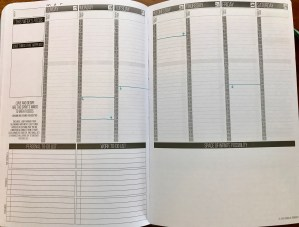 weekly spread in passion planner