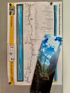 map and photo from mountains