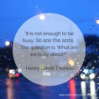 What kind of busy are you?