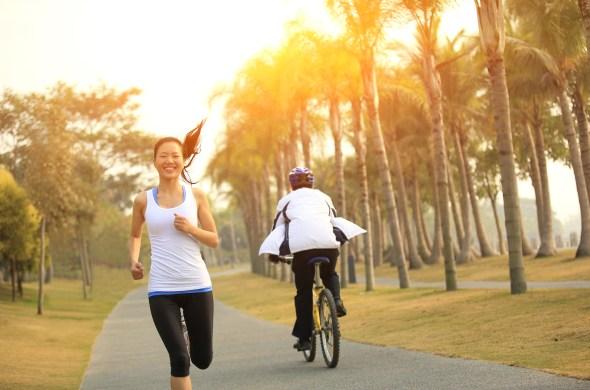 running vs cycling
