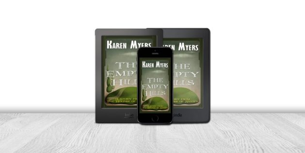 Display of available formats for The Empty Hills, a short story from The Hounds of Annwn. Written by Karen Myers. Published by Perkunas Press (PerkunasPress.com).