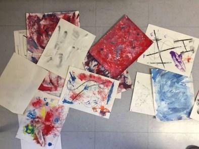 Intuitive Abstracts Student Work © 2018 Karen Phillips