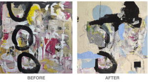 Breaking Free - wip before and after © 2021 Karen Phillips