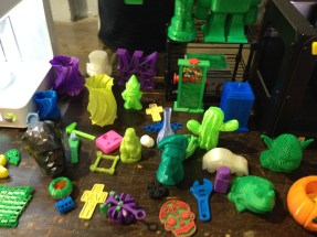 A bunch of stuff made with a different 3-D printer.