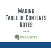 Table of contents note in Evernote