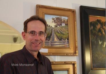 Mark Monsarrat Painting at Open Studios