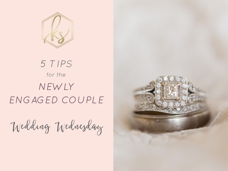 5 Tips for the Newly Engaged Couple by Karen Shoufler Photography