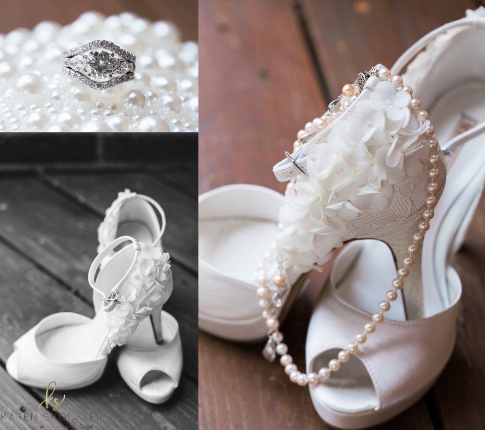 Wedding day details by Karen Shoufler
