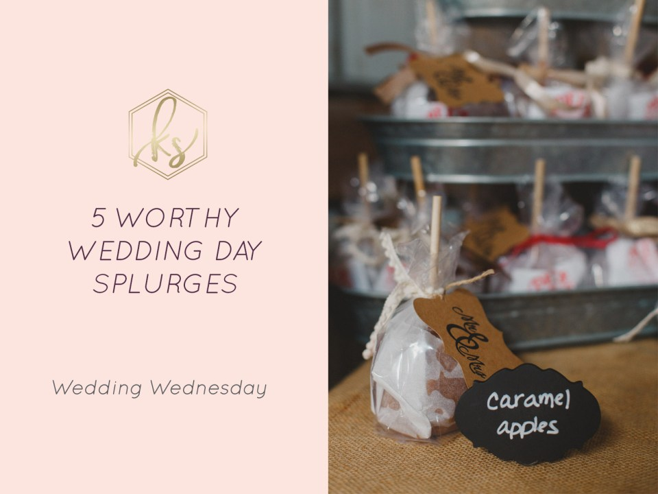 5 Things to Splurge On for Your Wedding Day