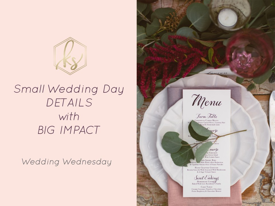 Small Cost Wedding Details with Big Impact