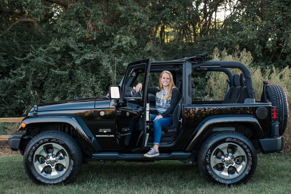 Senior Girl with Jeep