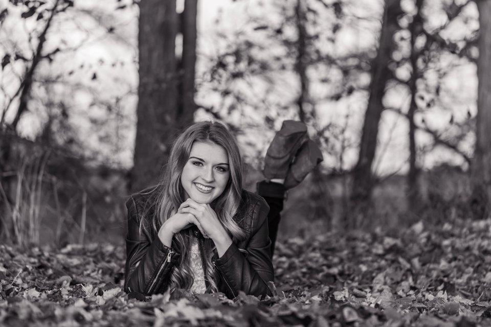 Fall Senior Girl Posing