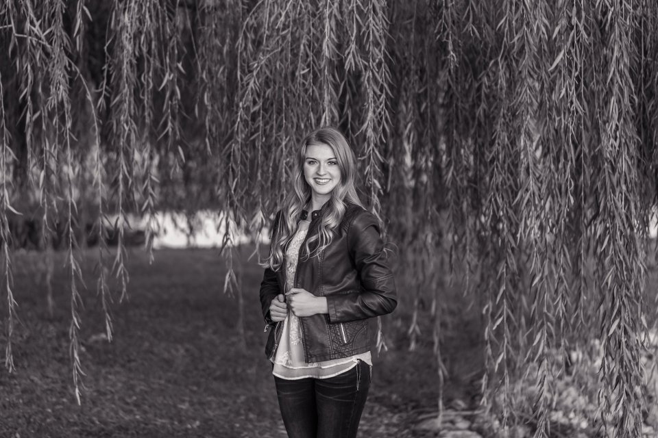 Fall Senior Girl by Willow Tree