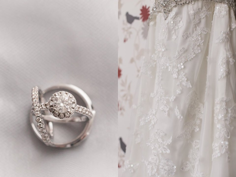 Springfield Fall Wedding Gown and Rings