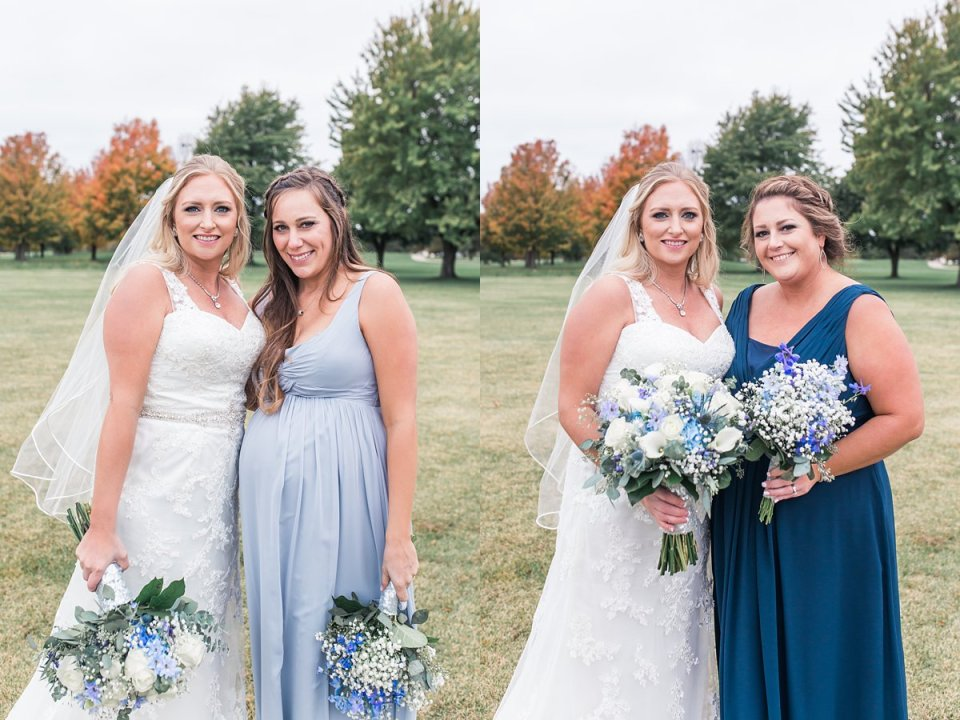 Illinois Golf Course Bridesmaids with Bride