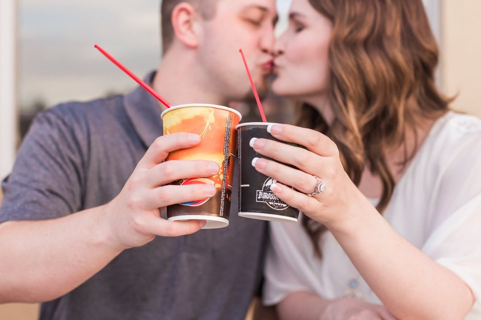Engagement photos at Dairy Queen
