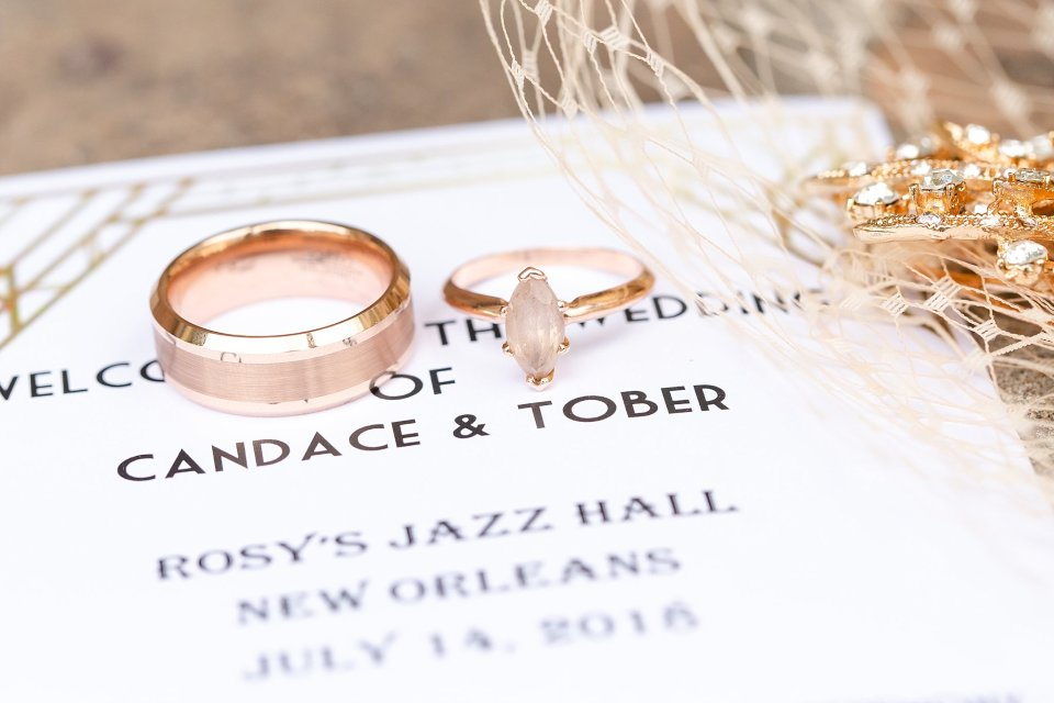 Morganite Ring and Invitation Suite in New Orleans by Karen Shoufler