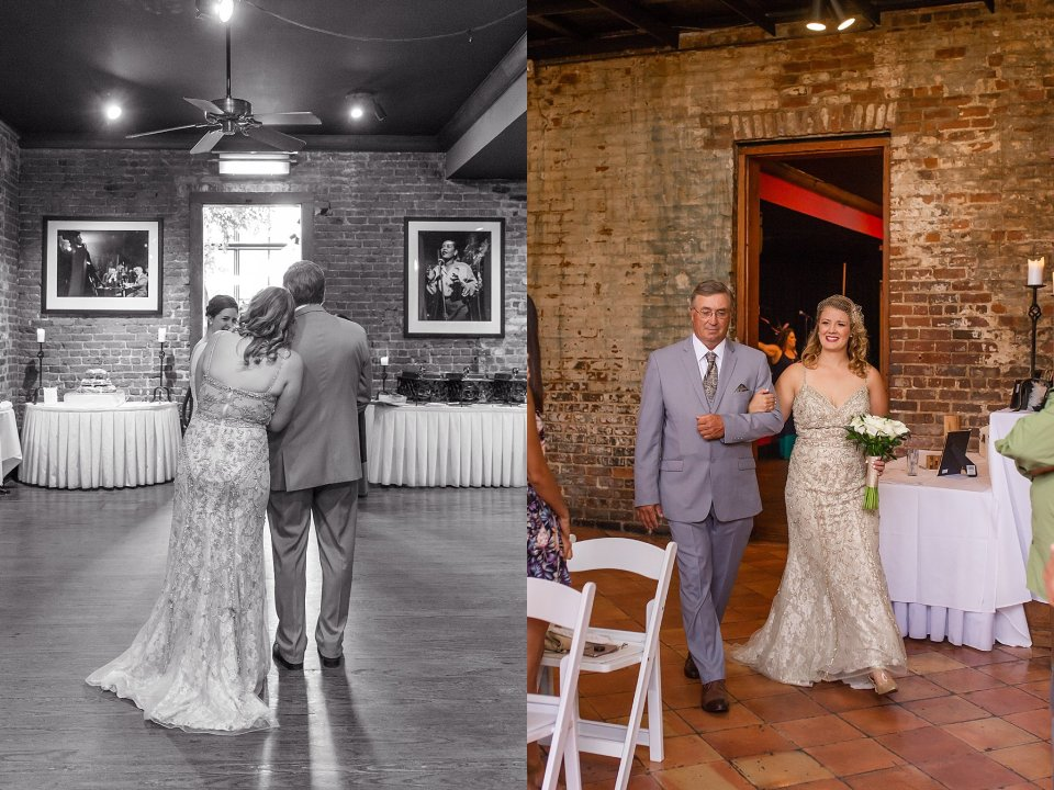Classic Black and White Wedding at Rosy's Jazz Hall in New Orleans by Karen Shoufler