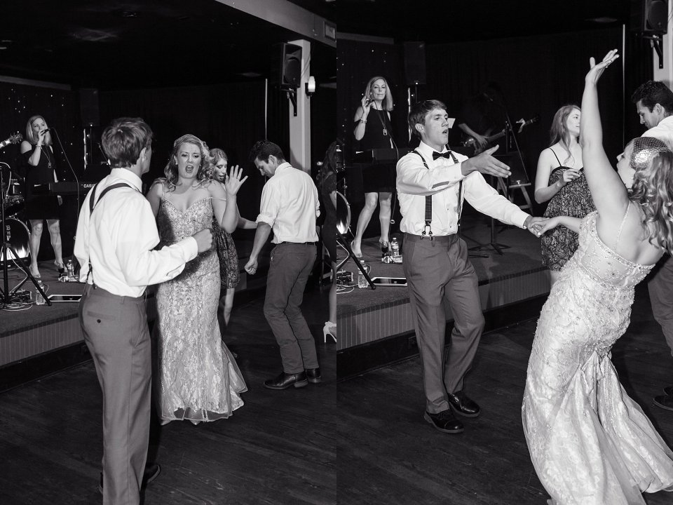 Wedding Dance at Rosy's Jazz Hall in New Orleans with live band Burger and Fries