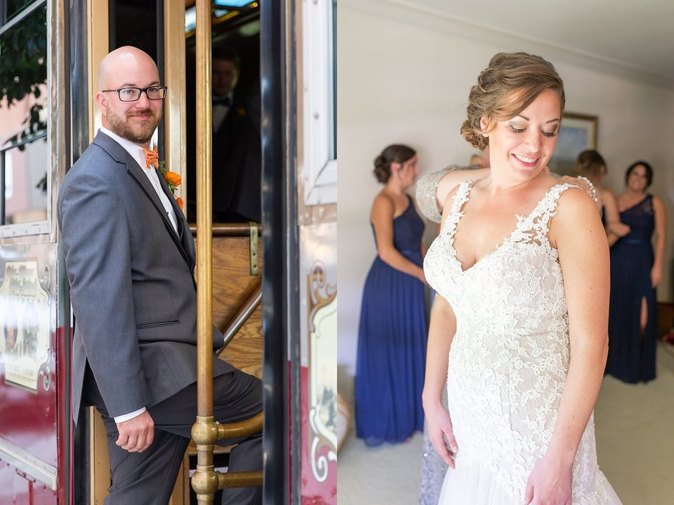 Bride and groom fall wedding in Champaign
