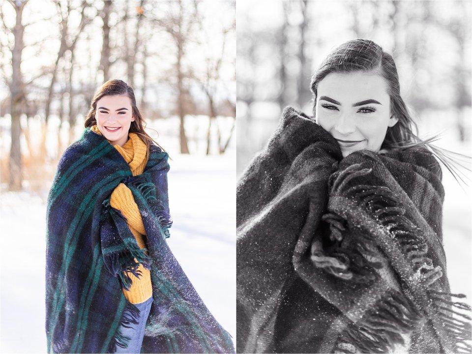 Senior girl in the snow