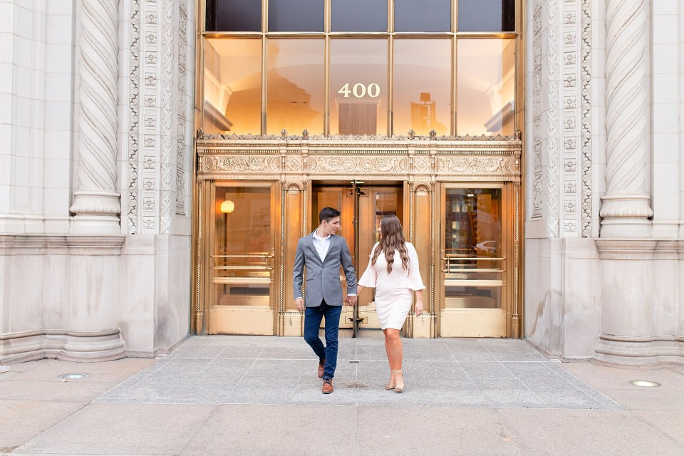 Wrigley Building Chicago Engagement Photography