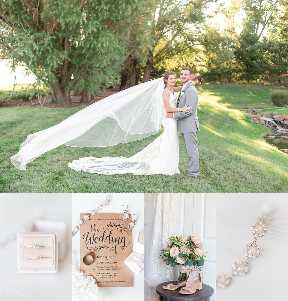 Elegant Summer Wedding at Pear Tree Estate in Champaign, Illinois by Karen Shoufler
