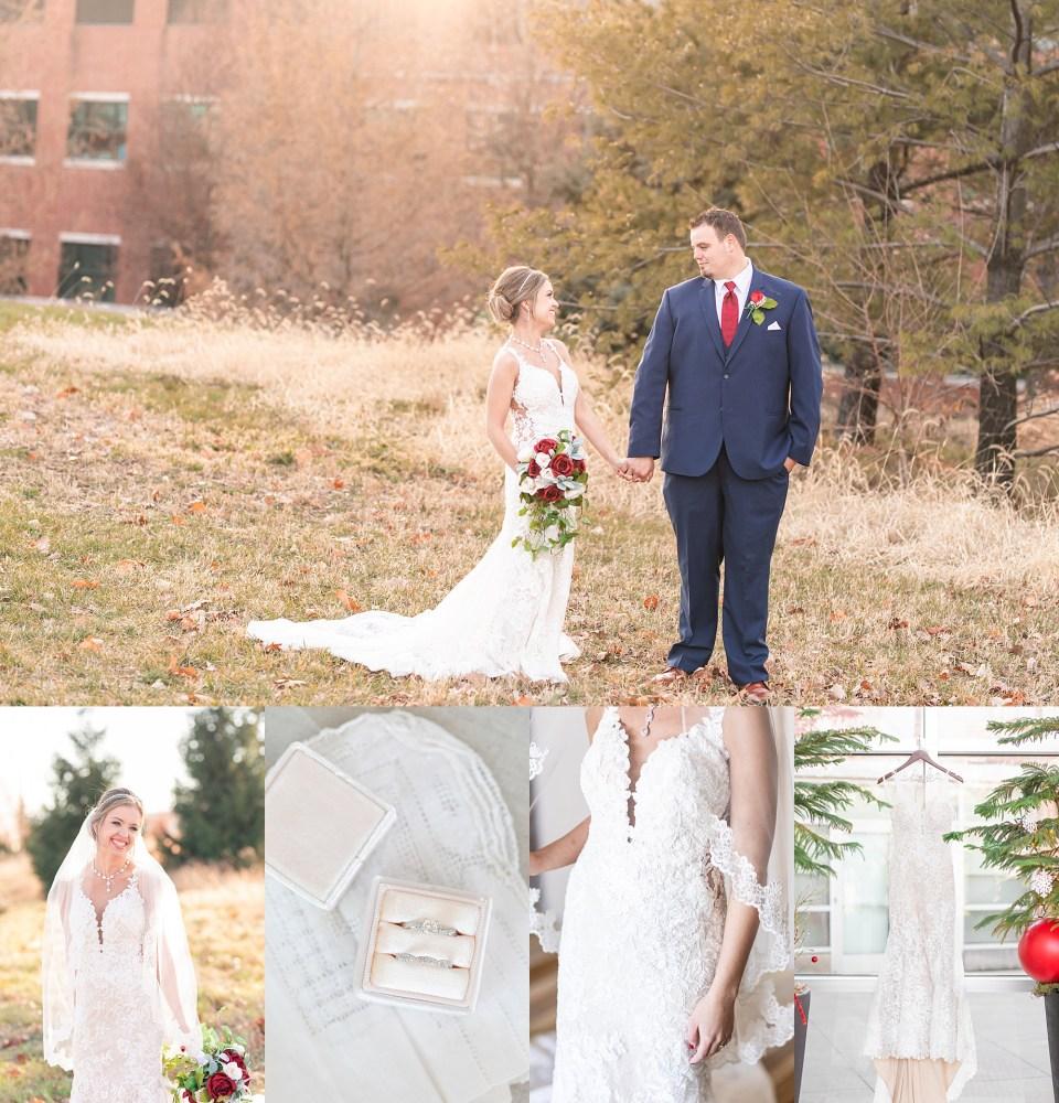 Illinois winter wedding at iHotel in Champaign, Illinois