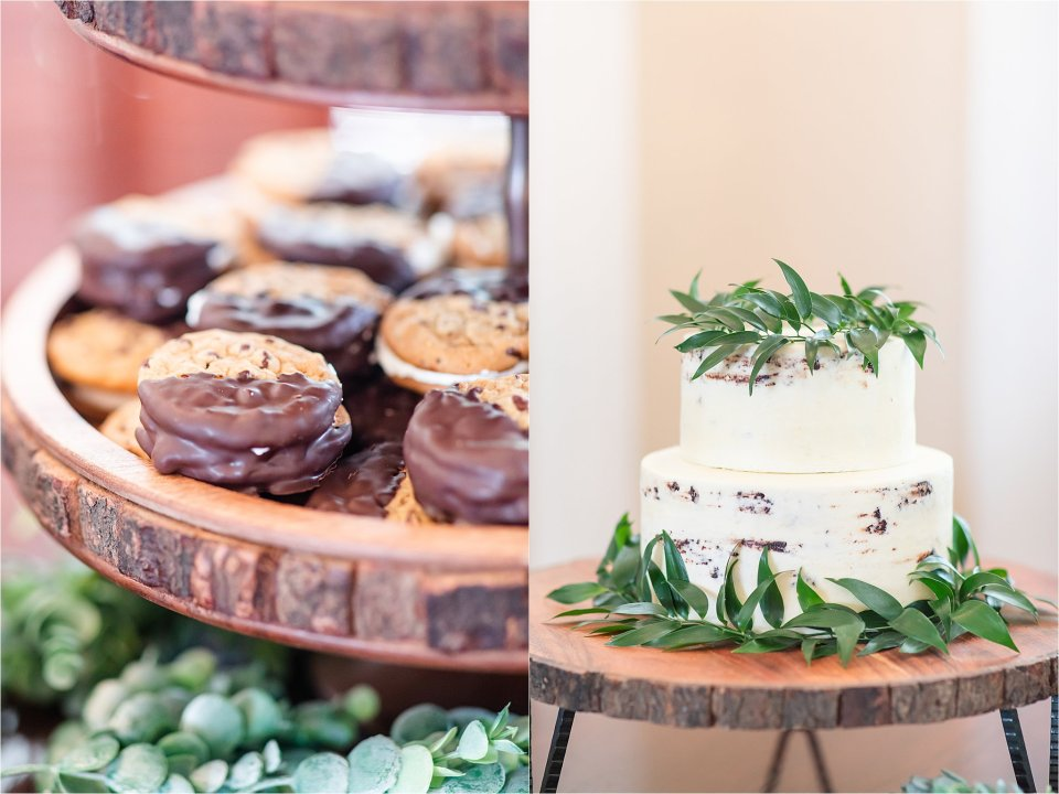 Sweets table at Heitman House in Ft Myers, Florida wedding