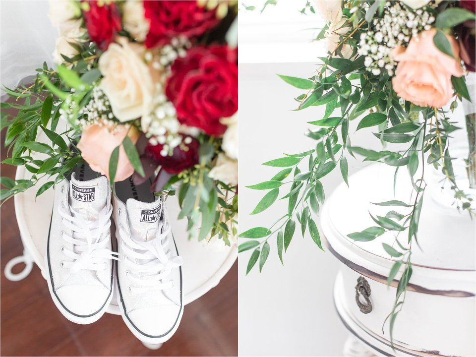 Bridal details at Heitman House wedding in downtown Ft Myers, Florida