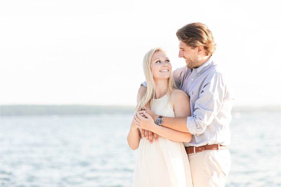 Engagement session at Lake Geneva Wisconsin